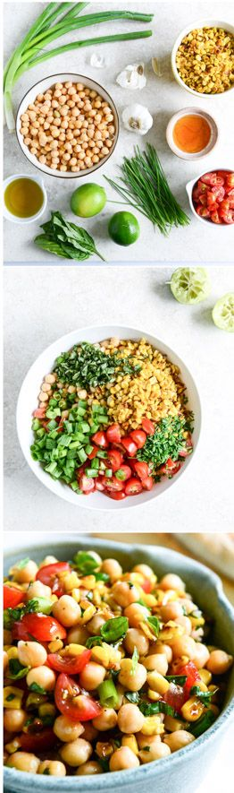 the EASIEST and most delicious simple chickpea salad. makes the best lunch or quick snack! by @howsweeteats I howsweeteats.com