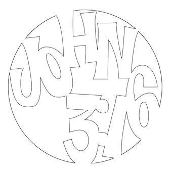 John 316 Pumpkin Stencil