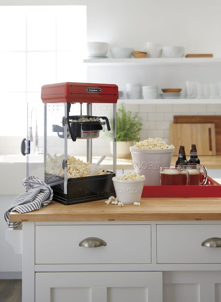 Home popcorn maker perfect for family movie night!
