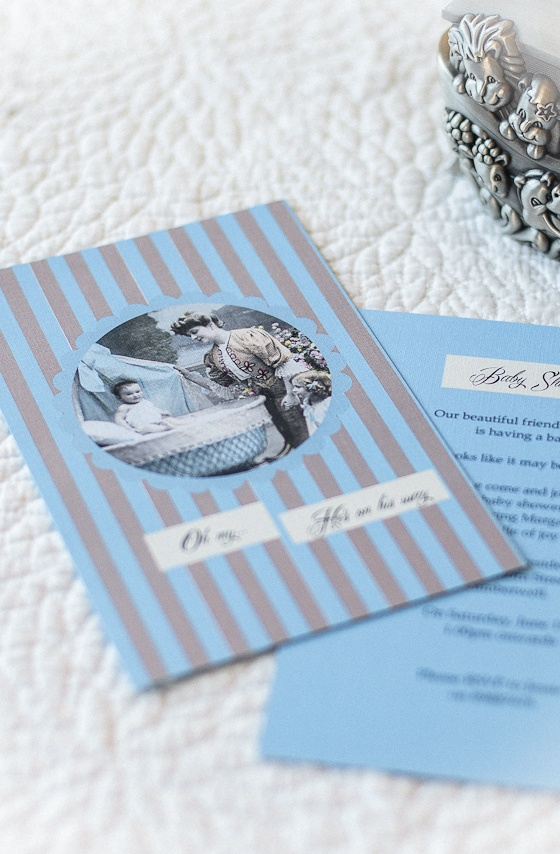 'My Victorian Angel' baby shower invitation by    InkiMinki Boutique Stationery