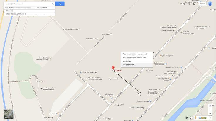 Afstand meten met Google Maps. Bekijk hier hoe!