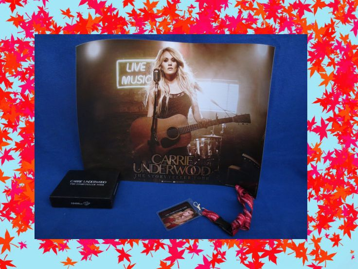 CARRIE UNDERWOOD Storyteller Tour VIP PACKAGE MERCHANDISE Power Bank, Poster
