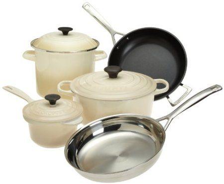Amazon.com: Le Creuset 8-Piece Ultimate Cookware Set, Dune: Kitchen & Dining