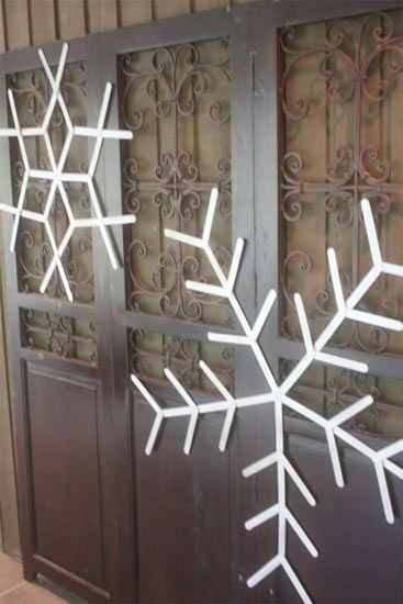 Giant Popsicle Stick Snowflakes