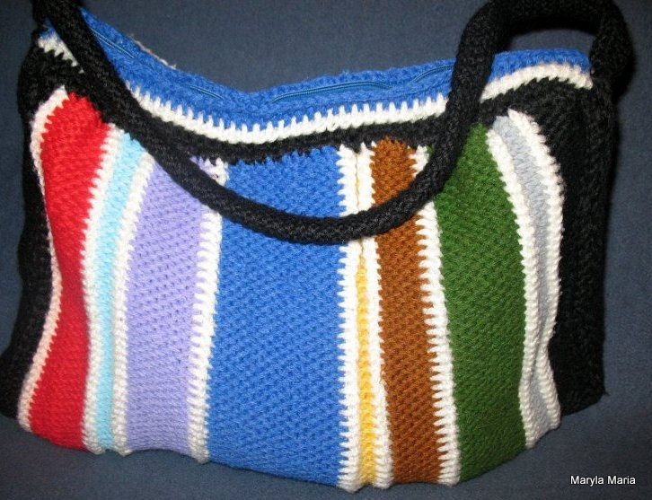torebka - szydełko ścieg tunezyjski // handbag - crochet, Tunisian stitch