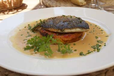 "COD WITH POTATOES TORTILLA Alliance food - wine: The rosé wine  ""CHÂTEAU SAINT JEAN""  AOP Côtes de Provence goes well with cod fish filets and served with a side dish of potatoes tortilla."