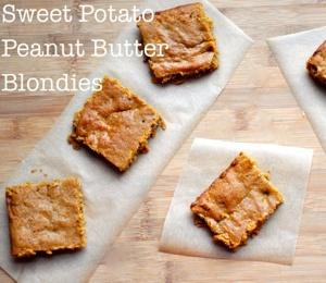 sweet potato peanut butter blondies finding vegan