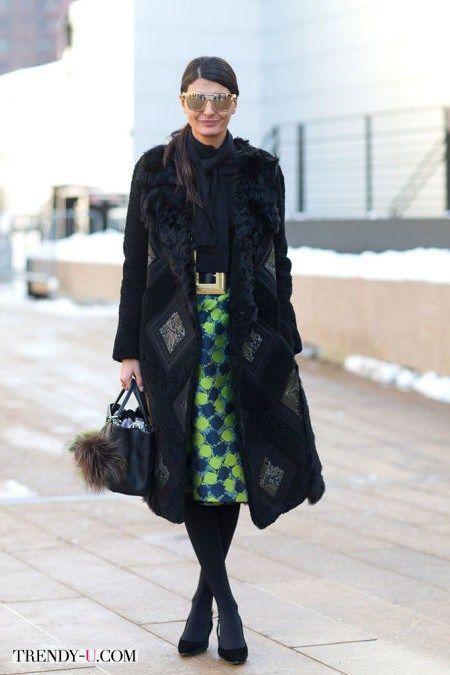 Акцент модного образа - юбка-карандаш с принтом
