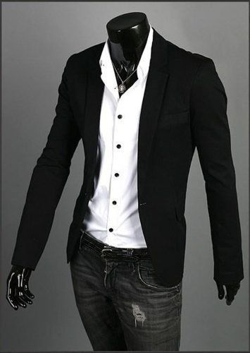 blazer entallado forrado