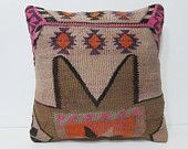 obsolescent kilim pillow 20x20 unisex accent pillow cover turkish pillow case kilim throw pillow pink turkish fabric large pillow case 26754