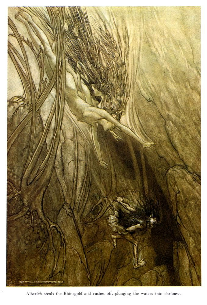 Arthur Rackham - from Das Rheingold