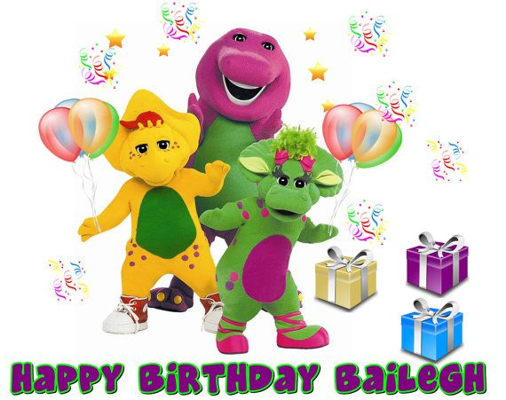 Barney And Friends Birthday Cake Toppers