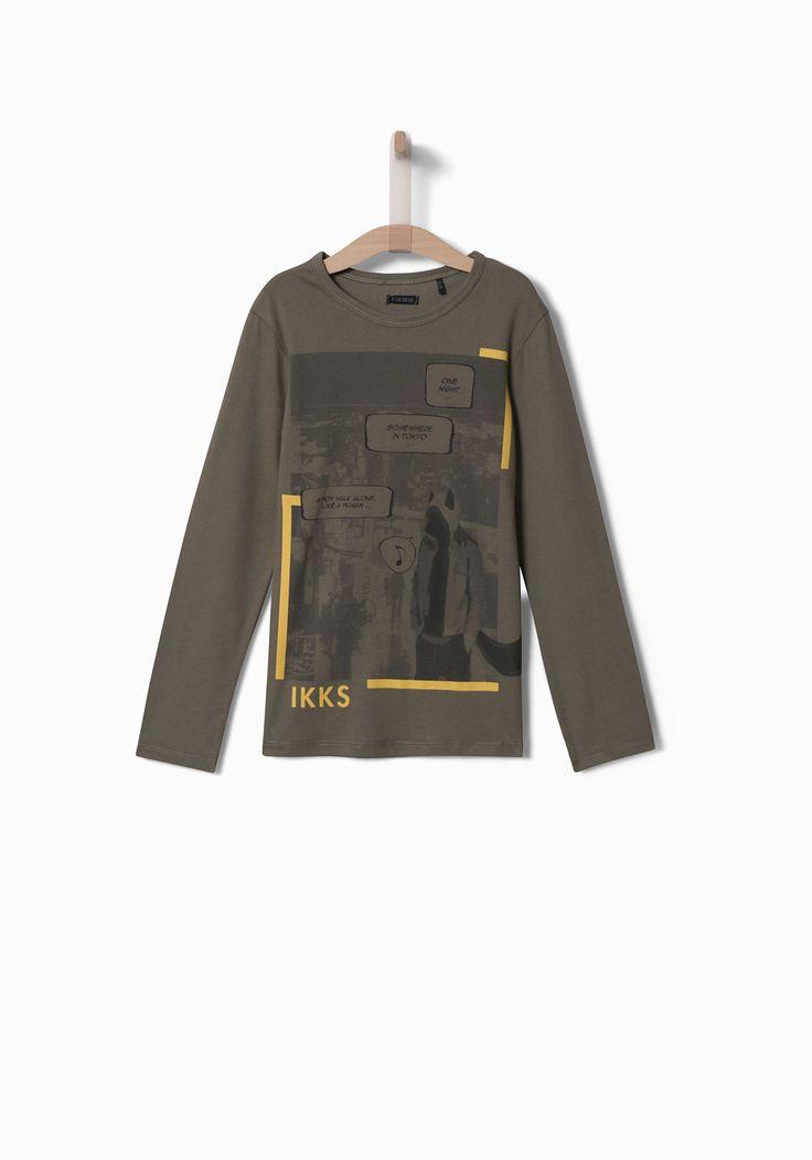Soldes Tee-shirt kaki garçon IKKS | Soldes Tee-shirt, polo Hiver
