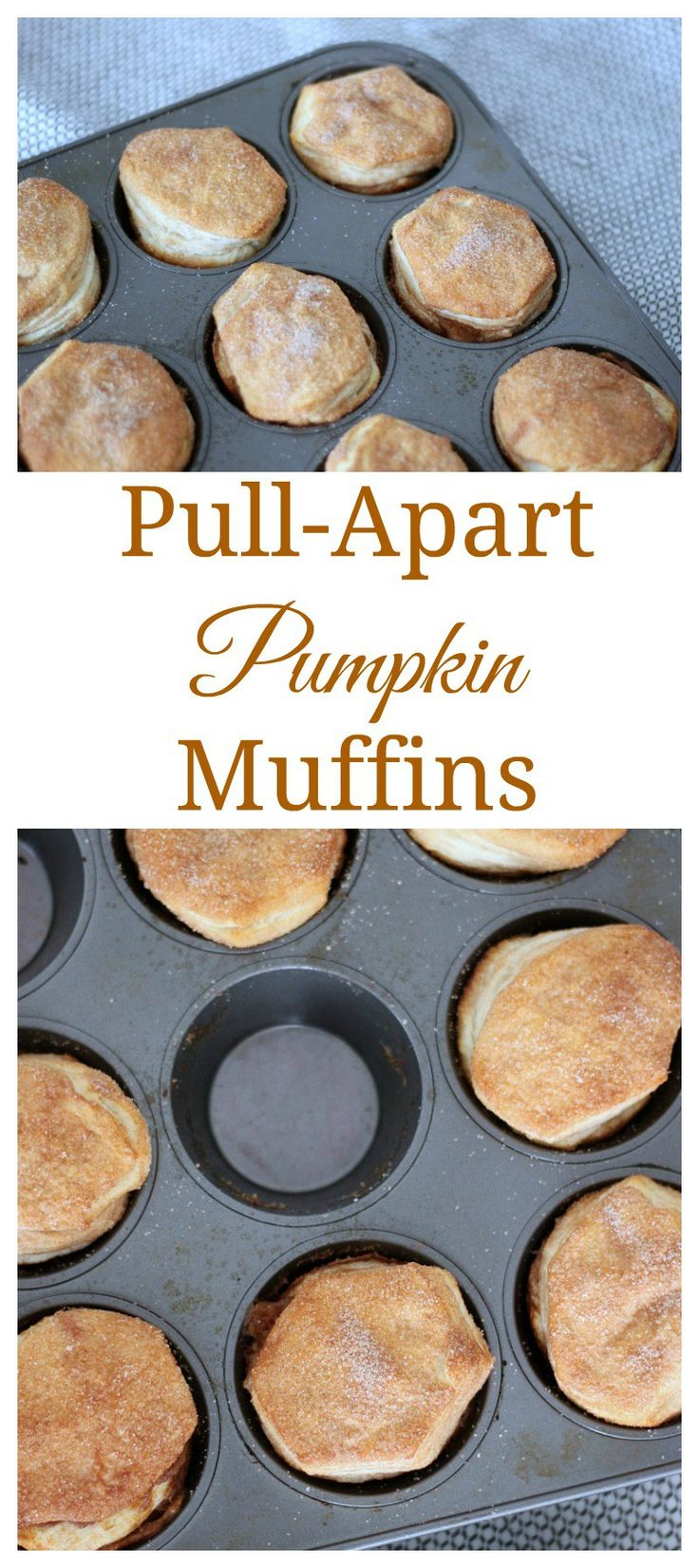 These pull-apart pumpkin muffins are an easy to make holiday treat that requires few ingredients but tastes oh so good. #muffins #pumpkin #immaculatebaking #ad @ImmaculateBakes