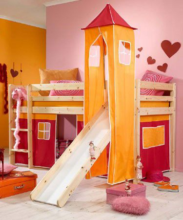 CABIN BED WITH SLIDE LITTLE GIRLS ROOM IN THE FUTURE