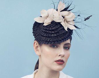 Sombrero de paja percher con perfecto por HannahYoungMillinery