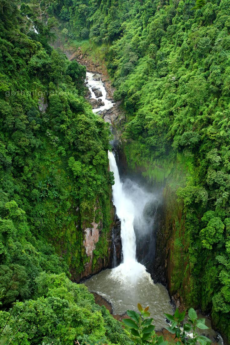 """Haew Suwat Waterfall, Khao Yai National Park - Thailand. This is the waterfall that Leonardo DiCaprio jumped off in the movie """"The Beach""""."""