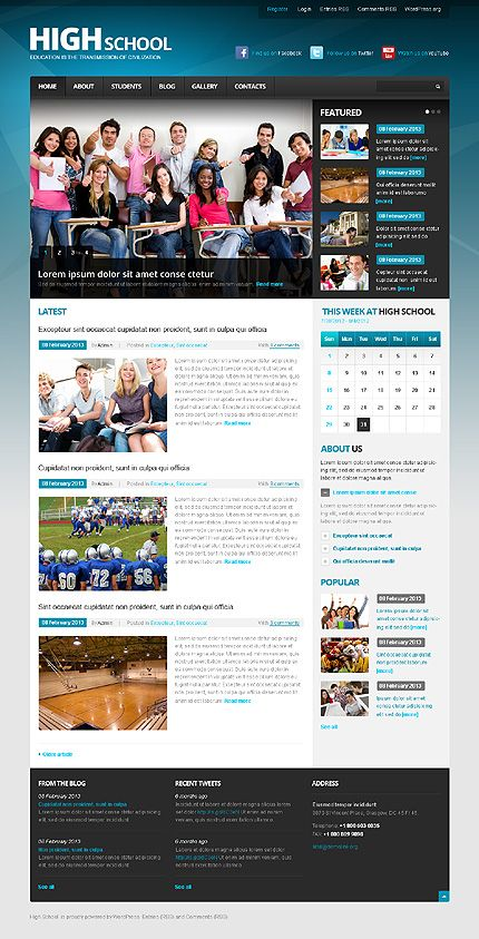 Hight School WordPress Themes by Mercury