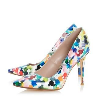 DUNE LADIES BLOSOME - Multi Coloured Bubble Print Court Shoe - multi | Dune Shoes Online