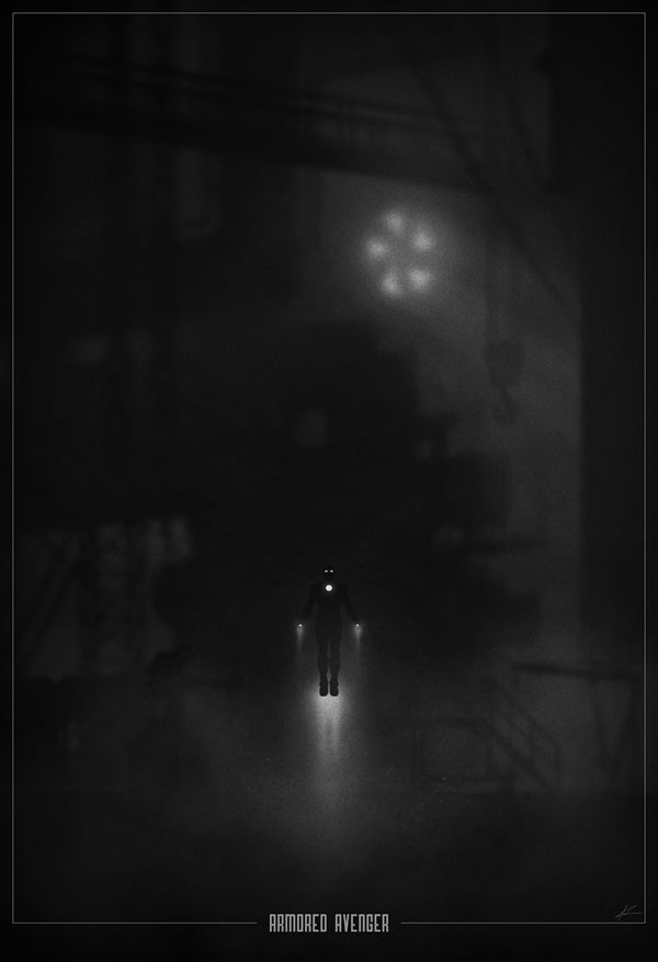 Superhero Noir Posters by Marko Manev