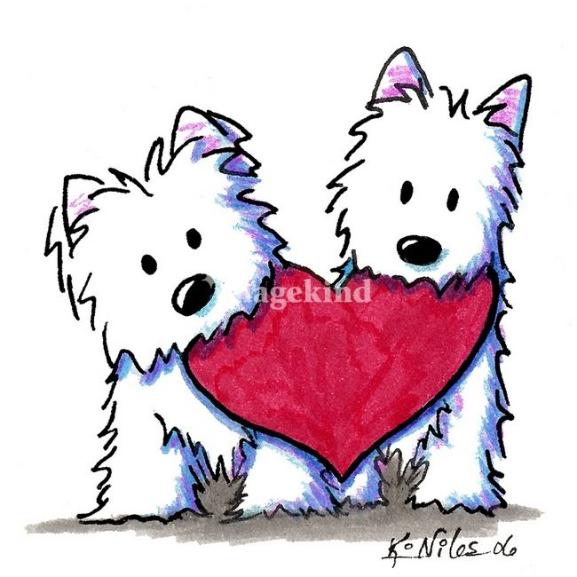 the 490 best art by kim niles images on pinterest dog art doggies rh pinterest co uk westie clip art free