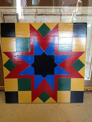 WOODEN PAINTED BARN QUILT 2'X2' HIGHEST QUALITY JUST BEAUTIFUL! on eBay!