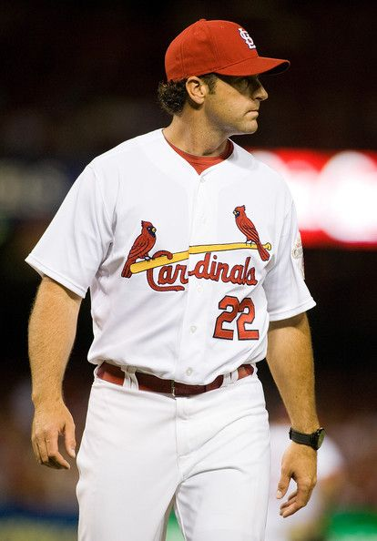 Mike Matheny Photos - Mike Matheny #22 of the St. Louis Cardinals walks off the field during a game against the Pittsburgh Pirates at Busch Stadium on May 2, 2012 in St. Louis, Missouri. - Pittsburgh Pirates v St Louis Cardinals