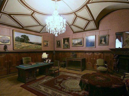 Palais de Marbre - 6 Quai du Palais - Saint Petersbourg - Le Bureau de réception du Grand Duc Konstantin Konstantinovich.