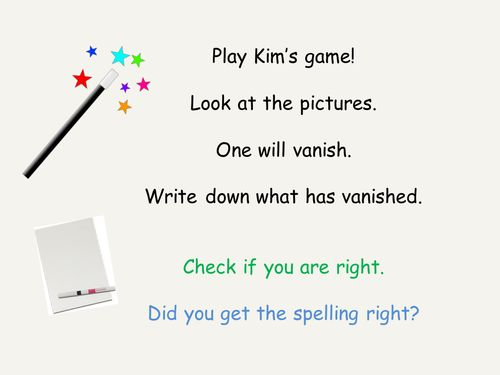 Kim's Game Phonics Phase 4