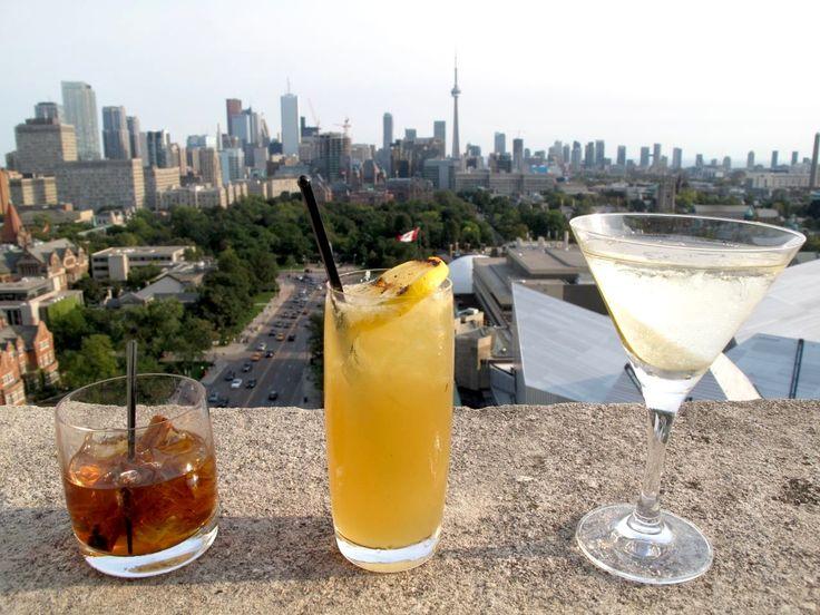 Andrew Dobson & Friends enjoy cocktails while enjoying breathtaking views of Toronto.