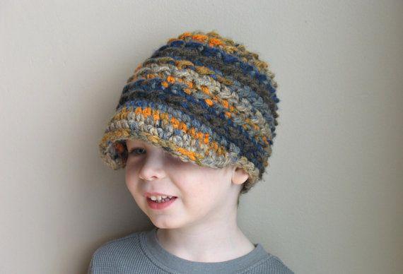 Crochet Newsboy Hat Newborn Boy Hat Newborn by DeesCozyCreations