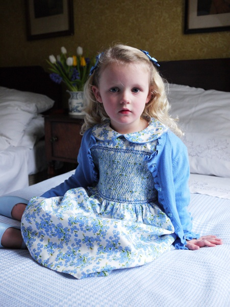 Rachel Riley Forget Me Not Smocked Dress.    Just love this, maybe one day I will get to smock a dress for a little girl!