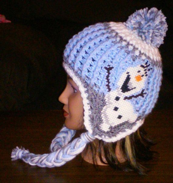 Crochet Olaf Inspired Earflap Hat Pattern Only by 3ThreadinBettys