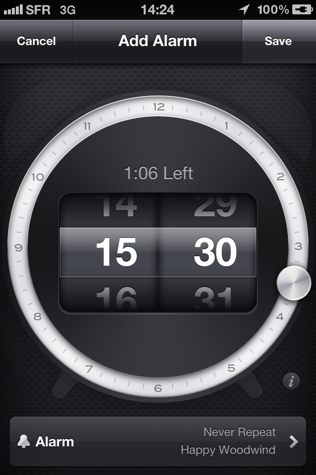 Tik Tok alarm setting #iPhone #iOs #setting #wheel