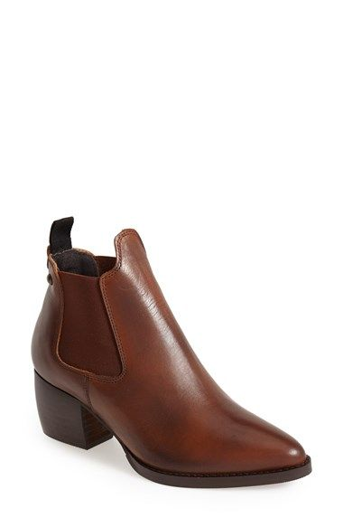 Free shipping and returns on Topshop 'Margot' Leather Ankle Bootie (Women) at Nordstrom.com. Stretchy side goring insets ease the fit of a smooth leather bootie lifted with a trend-right stacked, chunky heel.