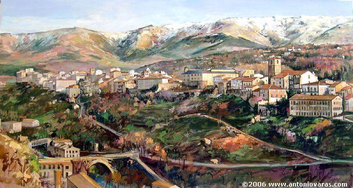BÉJAR 2004 (Salamanca) - Antonio Varas de la Rosa - Óleo, tabla 80x120 cm.
