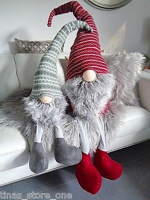 ♥  Neu 1 XL Deko Filzwichtel  Weihnachtswichtel Strickwichtel  100 cm  Grau ♥