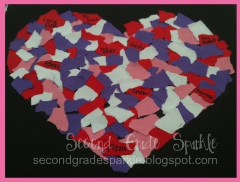Second Grade Sparkle: Mosaic of My Heart - Valentine Art Project