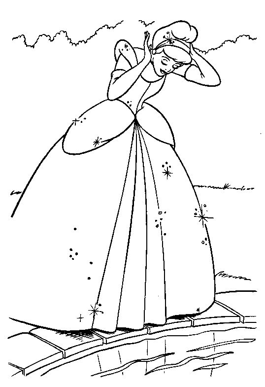 134 best CINDERELLA images on Pinterest | Cinderella, Coloring pages ...