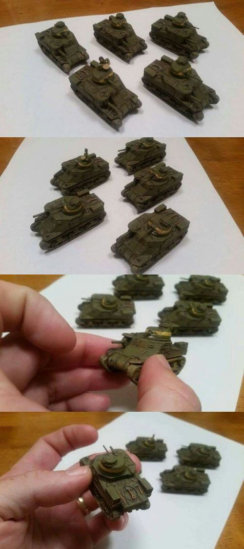 Flames of War 113523: Flames Of War, Us M3 Lee Platoon, Resin Models, Professionally Painted -> BUY IT NOW ONLY: $68 on eBay!