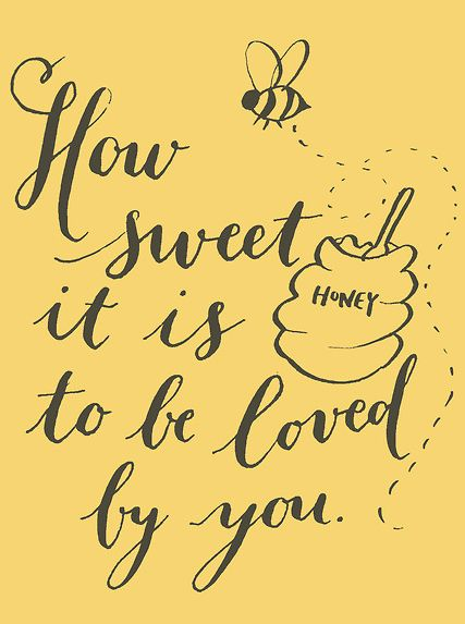 so sweet cute honey poster for bee themed honey party