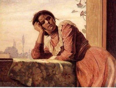 Mujer en el balcón - Pedro Lira