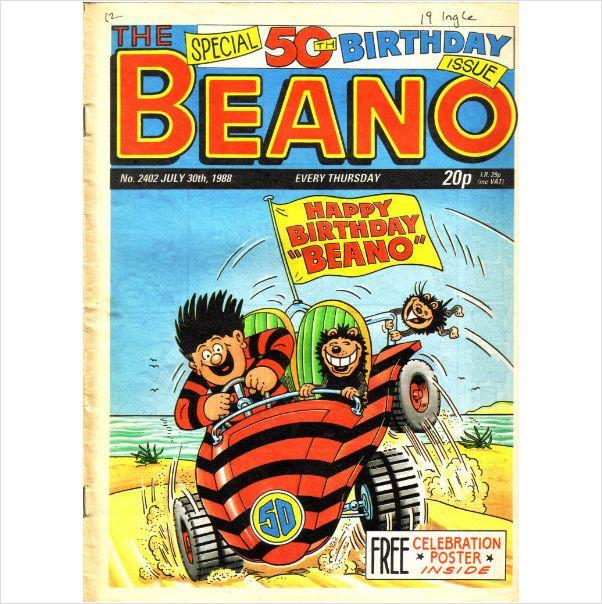 The Beano #2402 July 30th 1988 50th birthday Special on eBid United Kingdom