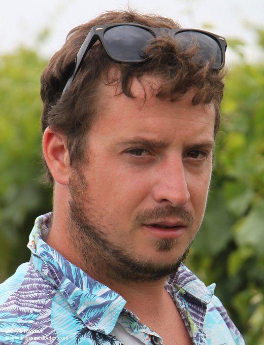 Jo Paillé, in the Quarts de Chaume vineyard, July 2014