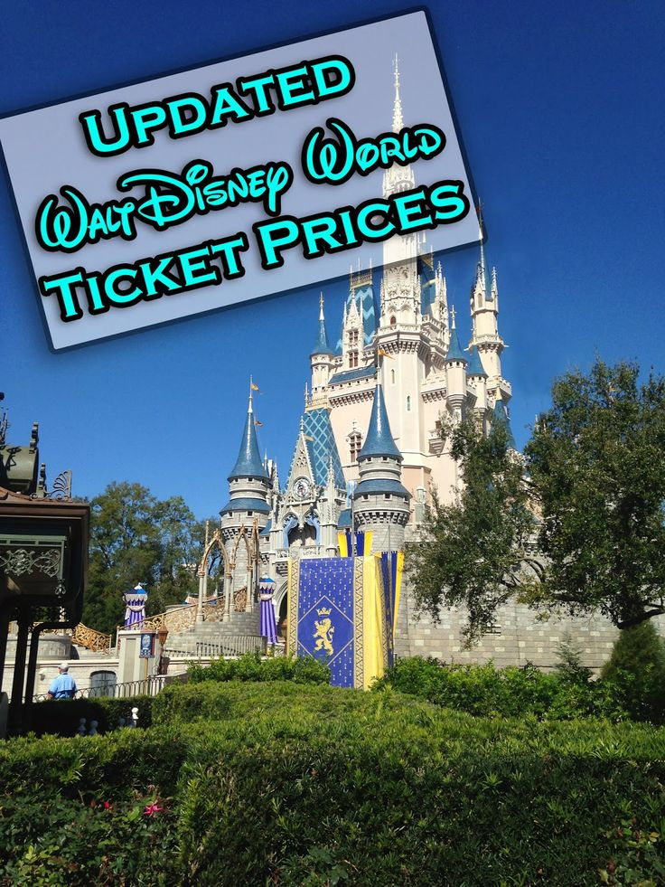 It's A Disney World After All: Walt Disney World Ticket Prices Increase - another breakdown (showing increases in red)