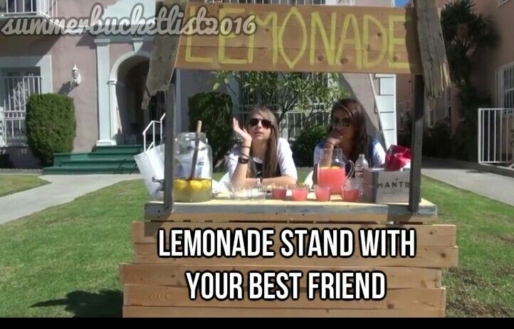 Lemonade Stand With Your Best Friend