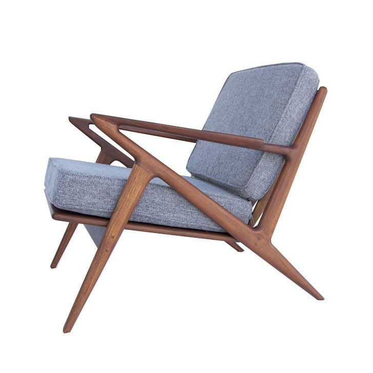 Jan 23, 2020 - Great corner accent chair, in front of a window reading chair. Light or dark spaces. Zed Chair in Charcoal | dotandbo.com