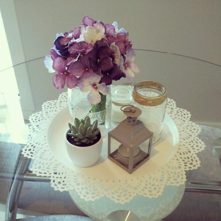 Centro de mesa personalizado.  lluviadeideas00@blogspot.com