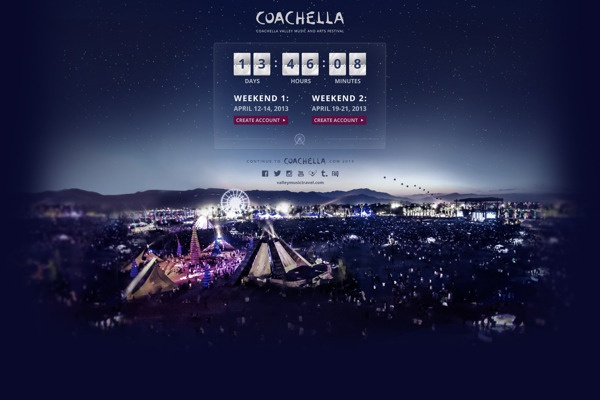 Coachella Splash Page on Behance