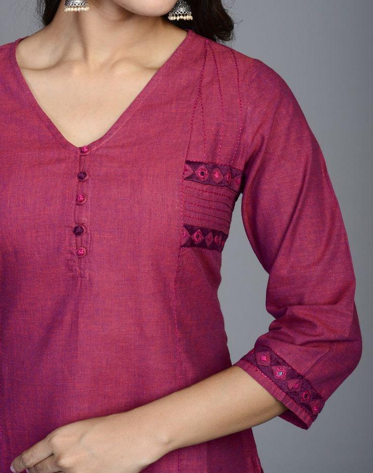Fabindia.com   Cotton Mangalgiri Soof Embroidery Mirror Work Tunic